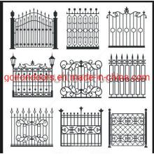 Powder Coated Garden Decoration Cast Iron Fence
