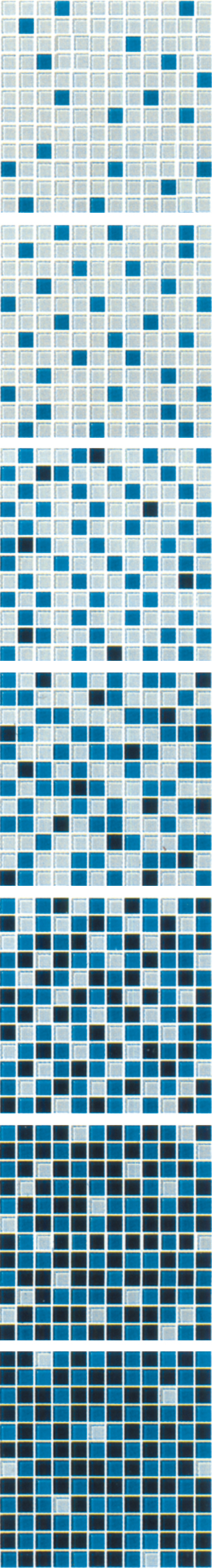 Blue Gradual Change Mosaic Tile