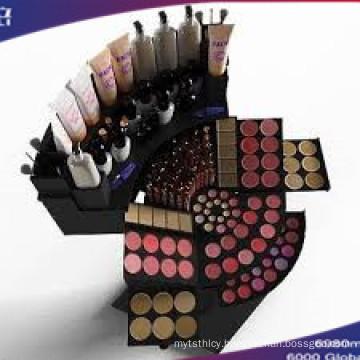Acrylic Cosmetic Organizer Display with Black Base