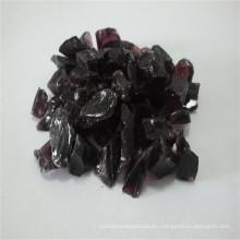 3-6mm púrpura roto / triturado de vidrio, arena de vidrio de piedra de cuarzo