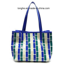 Fashion Canvas Ladies Patchwork Handbag (ZXS0040) (ZXS0040)