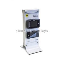Loja de telefone personalizada Conta de segurança superior Metal de dupla face 4 Telemóveis Suporte de exibição de publicidade