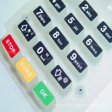 Fertigen Sie Plastikgummi-Silikon-Laser-geschnittene Tastatur besonders an