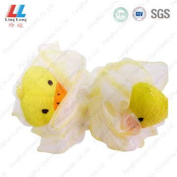 Little yellow duck mesh bath ball