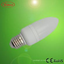Vela, lâmpada de poupança de energia
