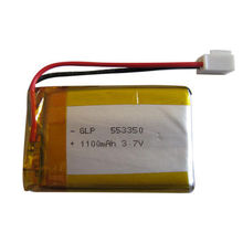 3.7V 3,000mAh Lithium-ion Polymer Battery, 553350, 500 Cycles, Used for GPS Tracker, Radio
