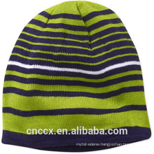 15STC4007 striped cashmere beanie hat