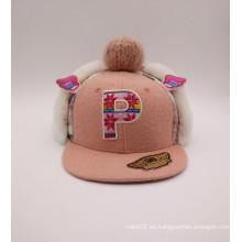 Moda niños encantadores Knittingwool estilo y sombrero de invierno de algodón (ACEK0044)