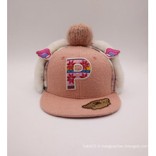 Fashion Lovely Children Style en laine de coton et chapeau d'hiver en coton (ACEK0044)