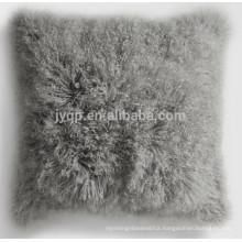 pretty tibet sheep skin fabric cushion cover