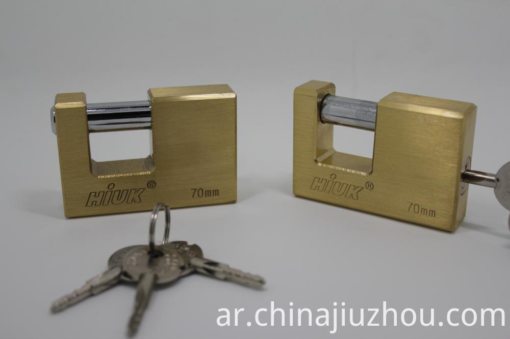 Heavy Duty Brass Rectangle Padlock