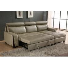 Tipo manual del recliner, sofá cama de cuero (953)