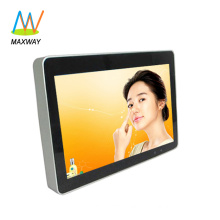 Front tempered glass slim type lcd advertising player 12 inch