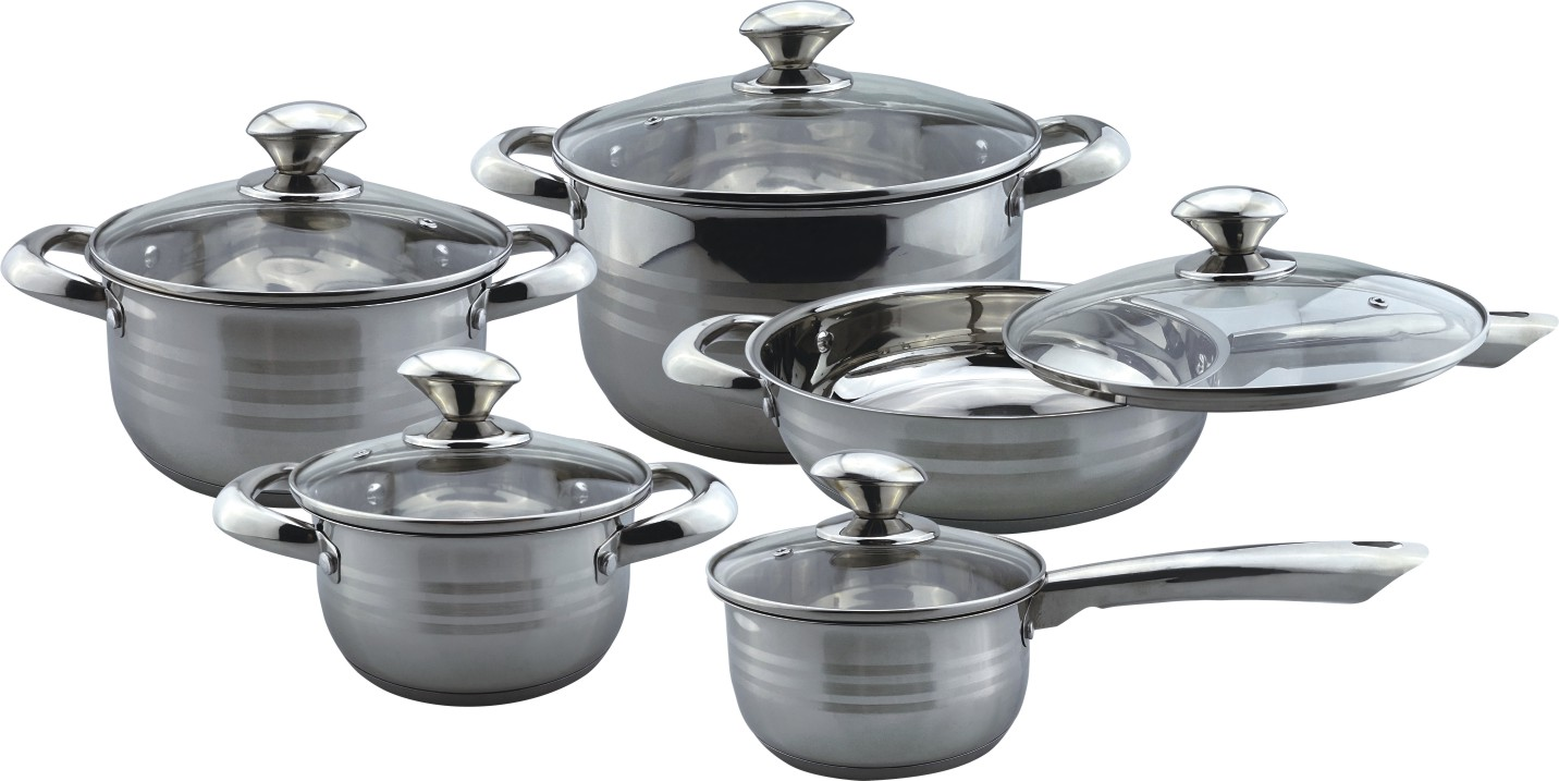 Elegant look 10pcs cookware set