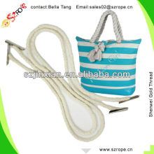 Cotton Bag Handle Rope With Barbs For Canvas Tote Bag