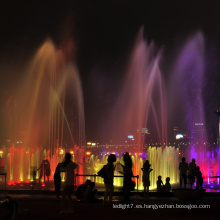 fuentes de agua al aire libre con luces led