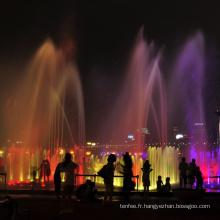 fontaines à eau d'extérieur avec lumières led