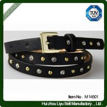 Fashion Woman PU Leather Metal Studded Belt