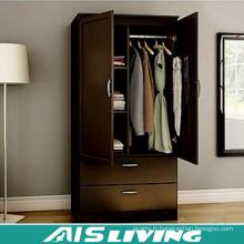 Cabinet de garde-robe de chambre à coucher en acier de 2 portes avec la conception intérieure de tiroir (AIS-W457)