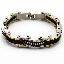 Bracelet de basketball de bonne qualité peut créer votre propre logo, gros bracelet en acier inoxydable