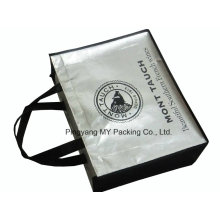 Promotion Shopping Silver Laminated Nonwoven Tote Bag