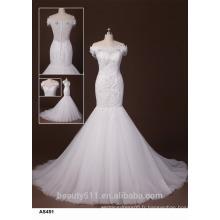 Sweetheart A-line Robe de mariée à manches courtes Robe de mariée à pied de sol TS163