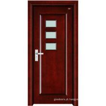 Porta de madeira interior (
