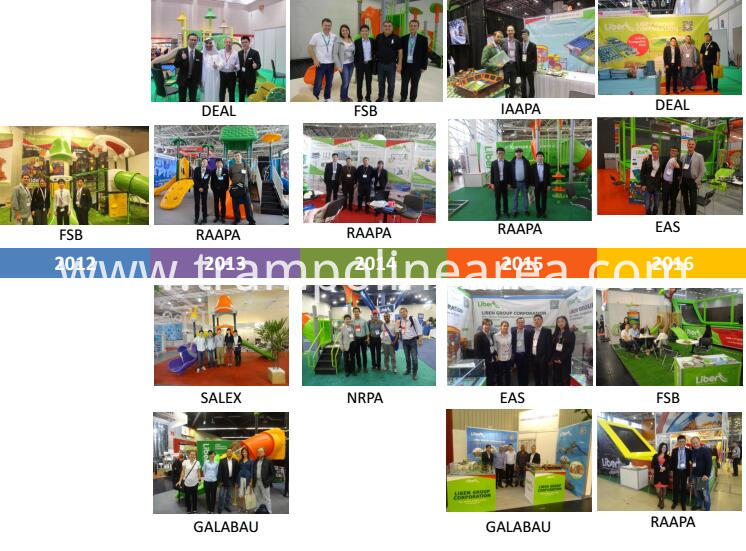 exhibition of professional trampoline mat