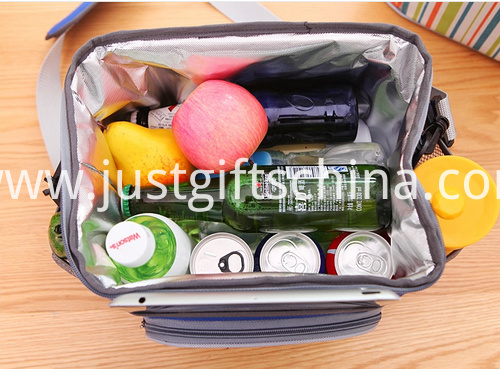 Promotional 600D Striped Cooler Bags W Strap