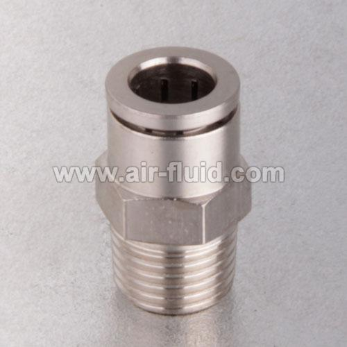 Straight male adaptor nickel plated brass push to connect