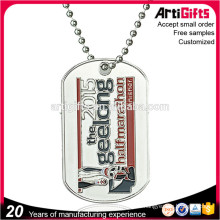 Free Samples Nickel Plated Debossed Dog Tags