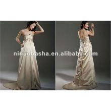 Noble Sweetheart Maternité A Line Robes de mariée Robe de mariée Court Train plissé plus grande robe de mariée de maternité robe de mariée
