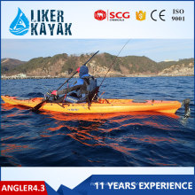 Hot Sale 4.3m Single Seats Kayak HDPE Kayak
