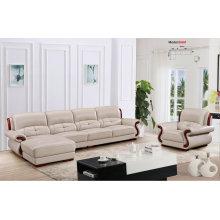 Sofá seccional de cuero moderno sofá, sistema de sala de estar, (658)