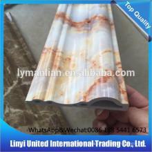 decoração de interiores de moldagem de mármore artificial pvc