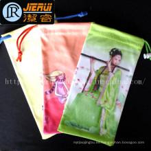 Bolsa de las gafas de sol de Microfiber modificada para requisitos particulares, bolsos del cordón con precio de fábrica