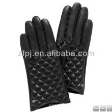 Diamond embroidery leather glove women