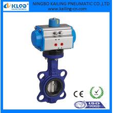 Vannes à papillon avec actionneur pneumatique rotatif, KLQD-vanne papillon DN50