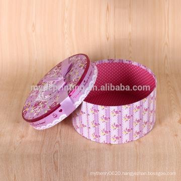 Custom print round hat flower packaging box wholesale