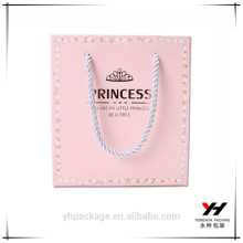 Customized high quality very cute pink bag gift papers