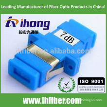 SC/UPC Singlemode Optical Bulkhead-type Fixed Value Attenuator 7db