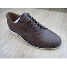 Marrom de tricô Mens Lace Shoes Nx 523