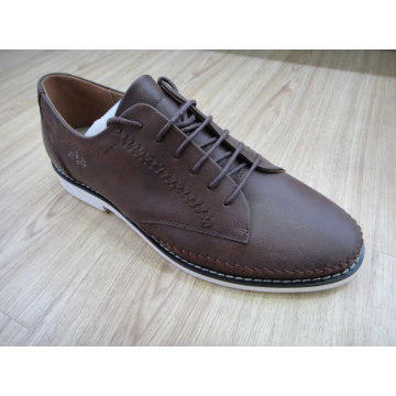 Brown Knitting Mens Lace Shoes Nx 523
