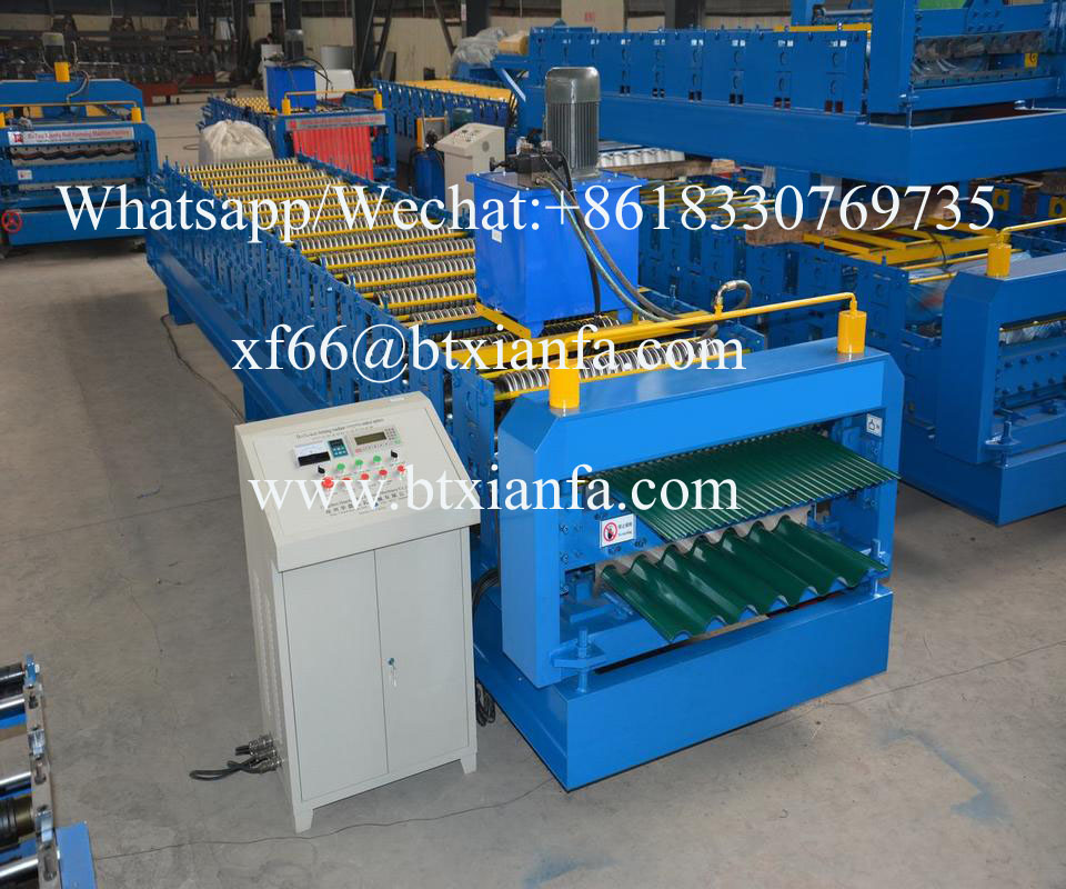 corrugated tile roofing machine