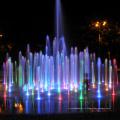 paysage de fontaine de musique en plein air