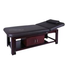 mobília do salão de beleza de madeira mesa de massagem cama de madeira facial