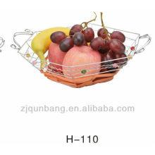 Porte-fruits à panier à fruits en rattan en hexagone, panier à fruits panier à fruits