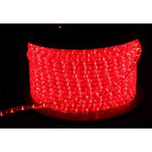 Luzes de corda 12V rodada 2 fios vermelho