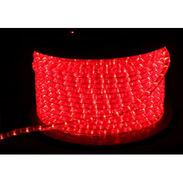 Rice Rope luz redonda 2 alambres rojo para la decoración de vacaciones y Navidad