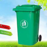 Outdoor plastic garbage bin